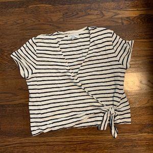 madewell stripe wrap top